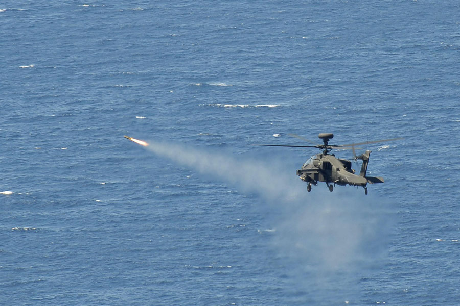 HMS Ocean hosts helicopters' first missile firing at sea