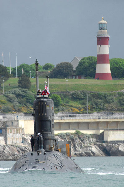 HMS Tireless home from operations
