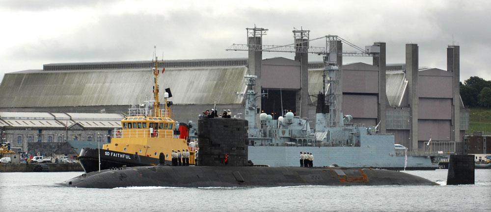 HMS Triumph home from Libya