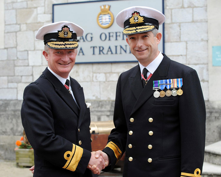 Rear Admiral Chris Snow retires, Rear Admiral Clive Johnstone takes over FOST