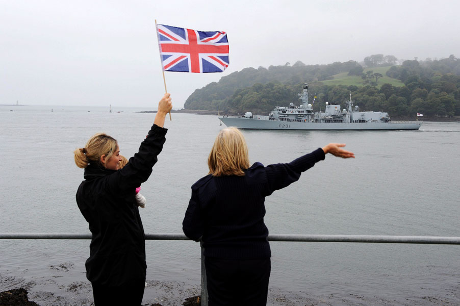 Plymouth-based Royal Navy warship HMS Argyll