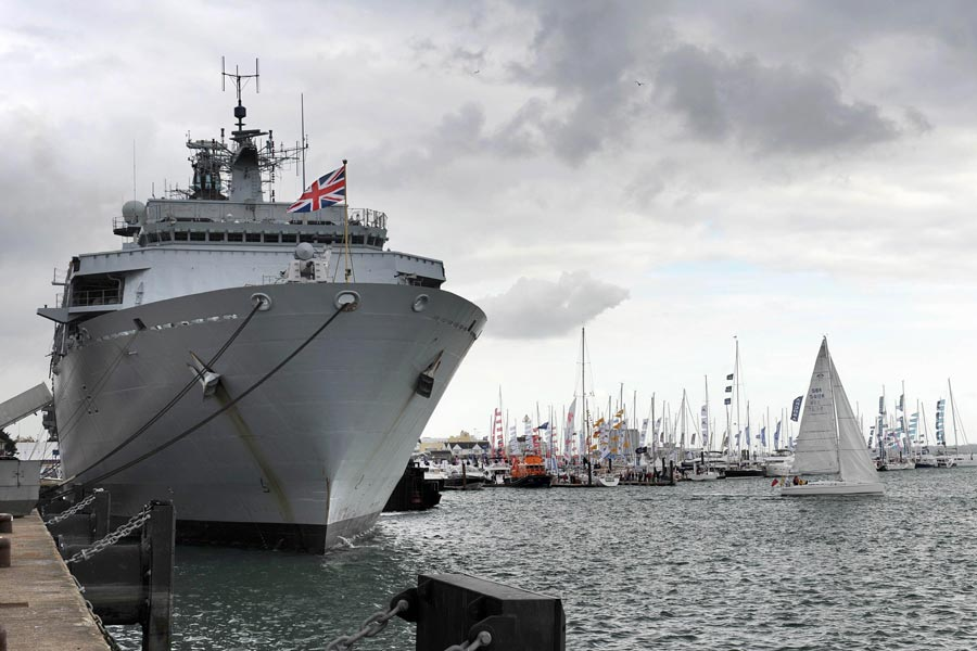 Plymouth based HMS Bulwark stars at Boat Show