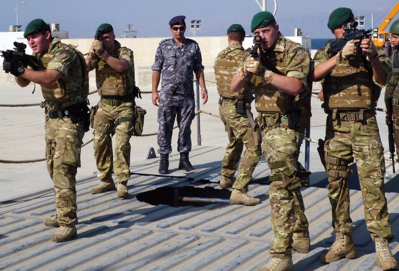 Royal Marines train with Jordanian Boarding Team