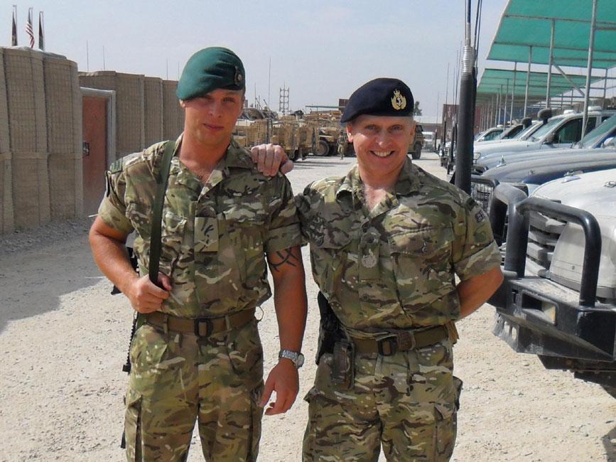 LCpl Simon Swann and WO Dave Swann, Afghanistan 2011