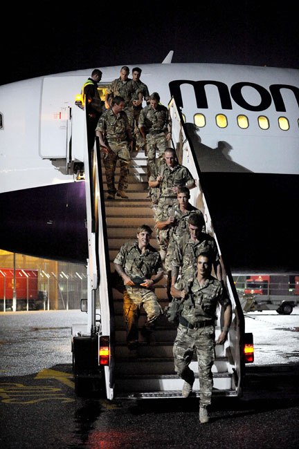 Royal Marines return from Afghanistan