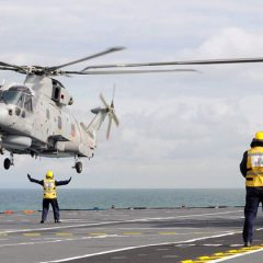 Merlins approaching HMS Illustrious