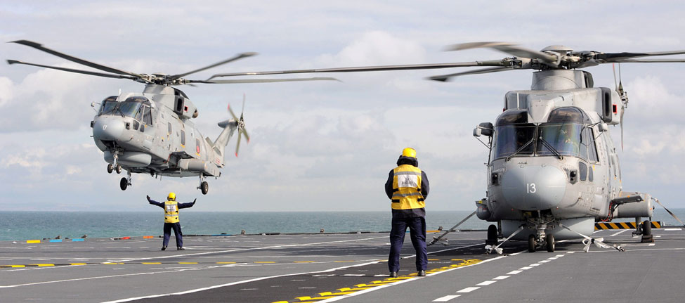 Merlins approaching HMS Illustrious