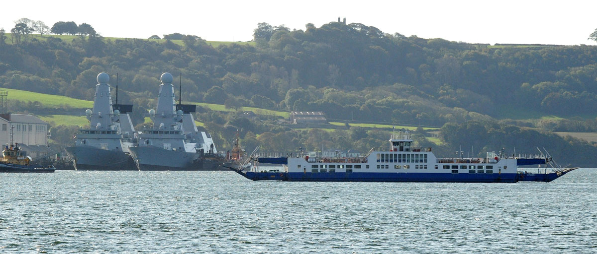HMS Daring and HMS Diamond at Devonport