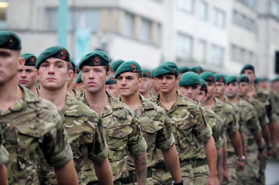 Returned Afghanistan troops mark Armistice Day in Plymouth