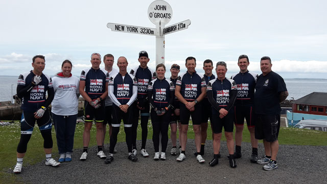 Cycle Challenge Team at John O'Groates
