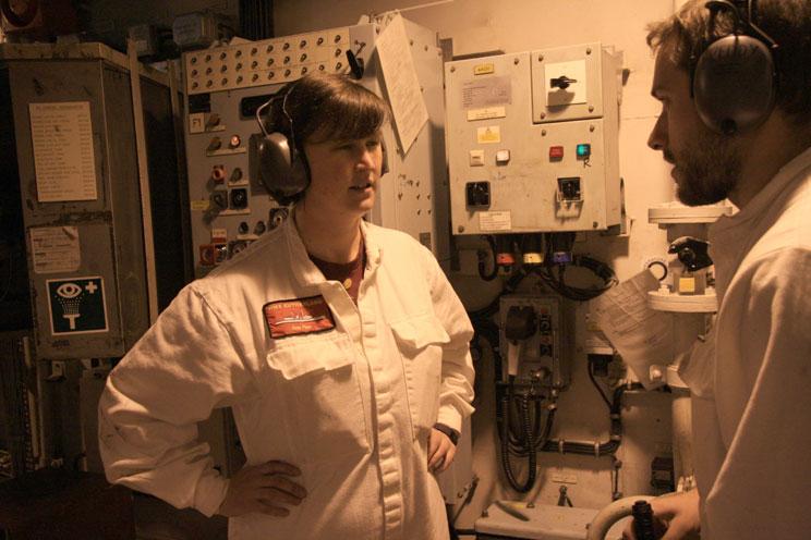 Lt Cdr Helen Jones on HMS Sutherland