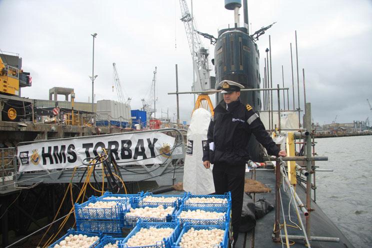 Lieutenant Dave Potts on HMS Torbay