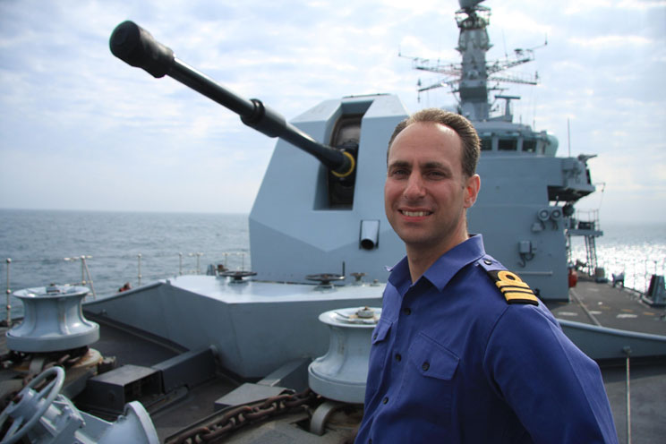Lt Cdr Jon Boughton on HMS Sutherland