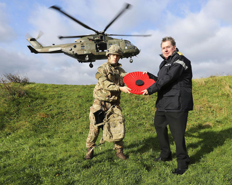 Adm Stanhope receives poppy
