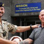 Lt Cdr Al Nekrews says farewell to Ed Baxendale