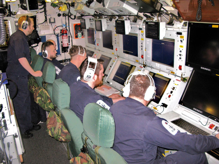 HMS Trenchant control room