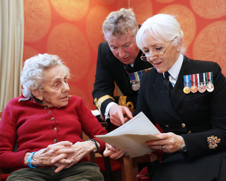 Pug (Patience) Whitwell awarded WW2 Service Medal