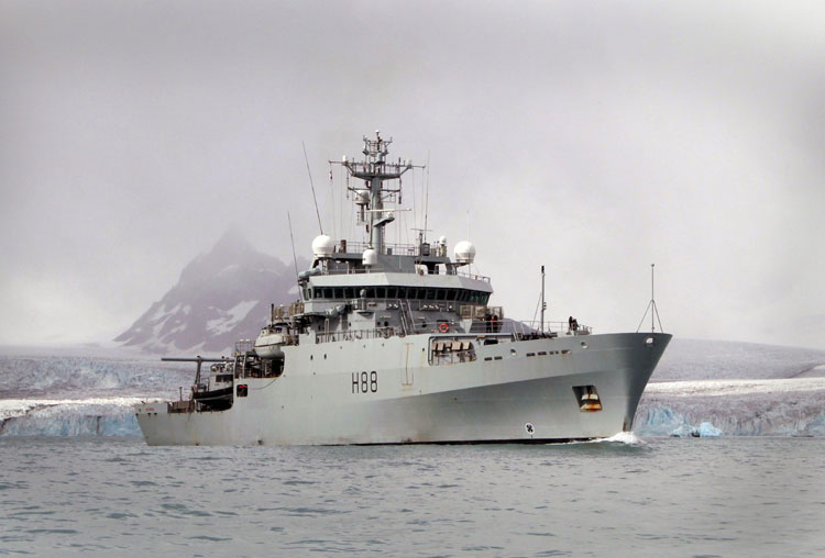 HMS Enterprise in Antarctica