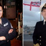 PO Bethany Burton and Cdr Stephen Higham
