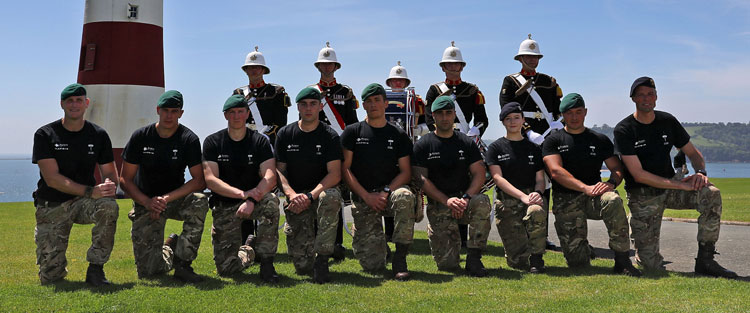 Royal Marines charity endurance relay