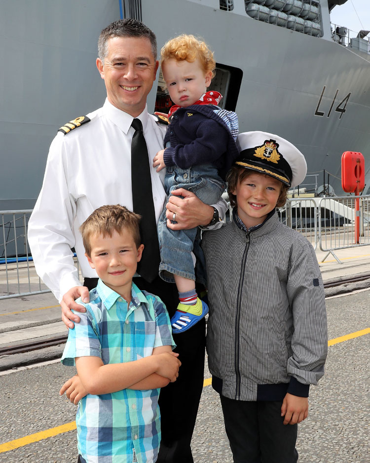 Commander Mark Jones and family