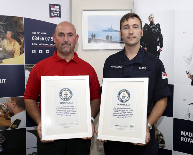 Mark Belamarich and Leading Seaman Phil Slade