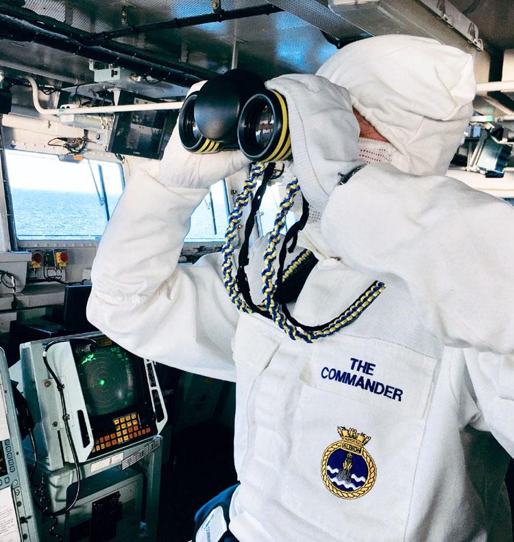 HMS Albion Cdr Stuart Yates