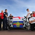 Royal Navy personnel are taking part in a 300-mile cycle ride across England