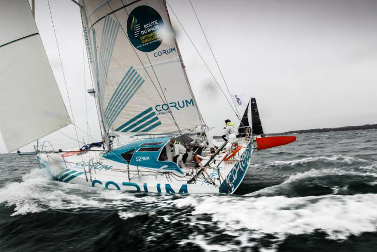 Currently leading the 11-strong Class40 fleet - Nicolas Troussel's Corum © Paul Wyeth/RORC