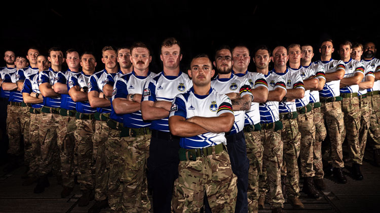 HMS Albion's Lions rugby team