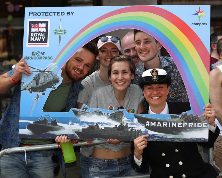 Royal Navy and Royal Marines named one of the UKs top LGBT-friendly employers