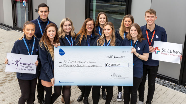 Babcock Devonport Apprentices Raise £4000 for Local Charities