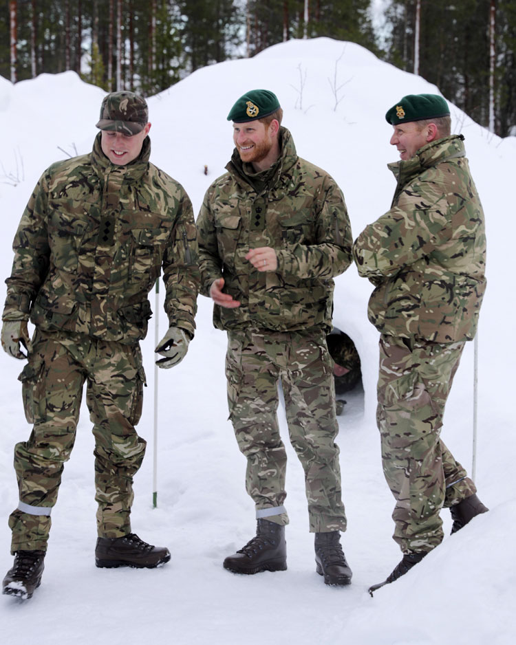 Duke of Sussex visits sailors and marines in the Arctic Circle