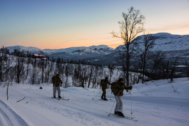 Royal Marines begin training for Arctic defence
