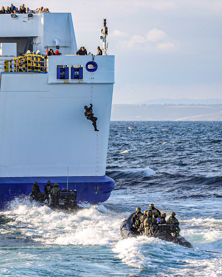 Royal Marines swoop on passenger ferry