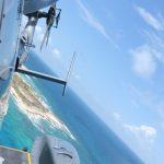 Royal Fleet Auxiliary ship, RFA Mounts Bay, returns to island paradise it helped rebuild