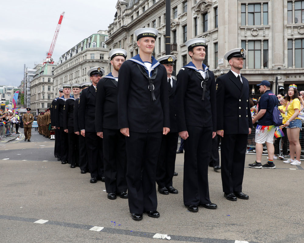Royal Navy and Royal Marines show their pride in London