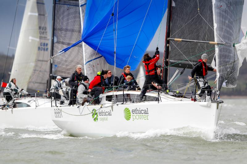 Tom Kneen's JPK 11.80 Sunrise - all the crew are members of the RORC Under 35 group