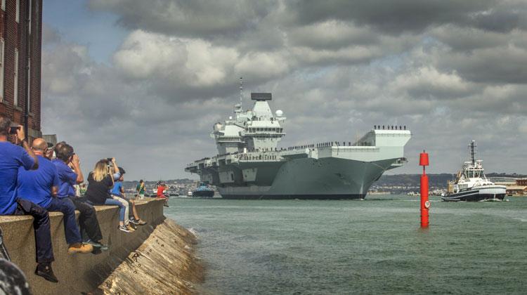 HMS Queen Elizabeth sails for landmark F-35 trials