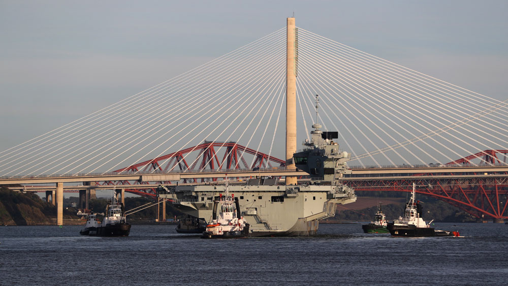 HMS Prince of Wales, has left the dockyard and is ready for sea