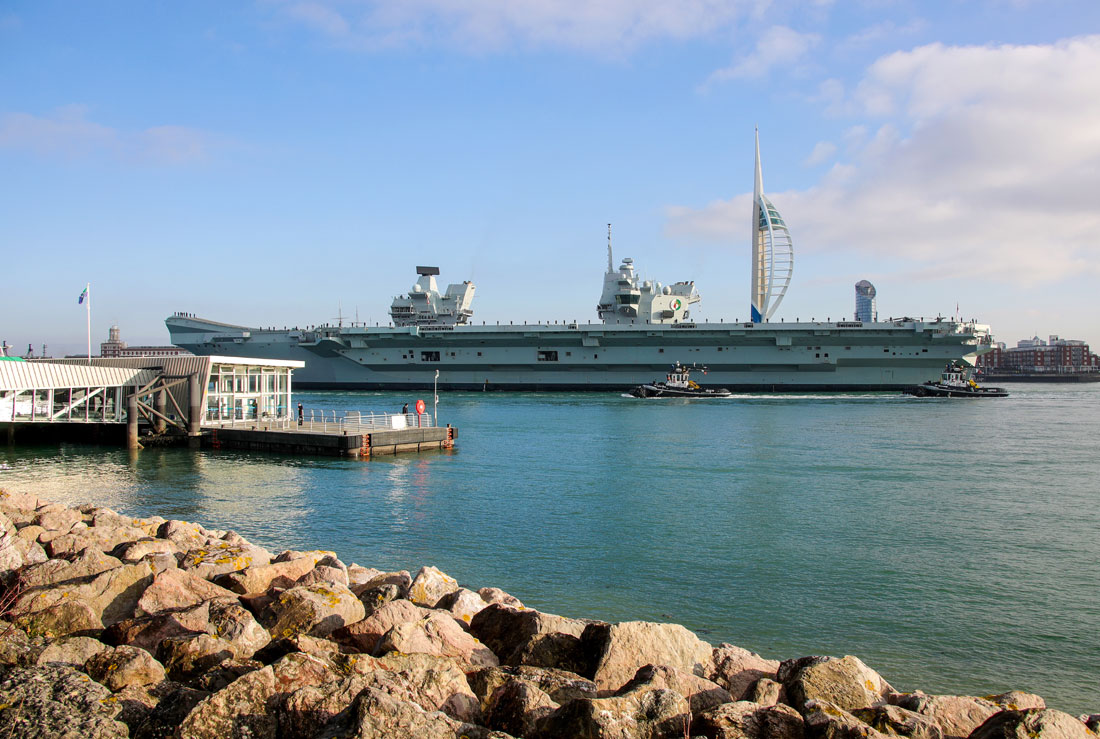 HMS Queen Elizabeth carrier strike group returns home from jet trials