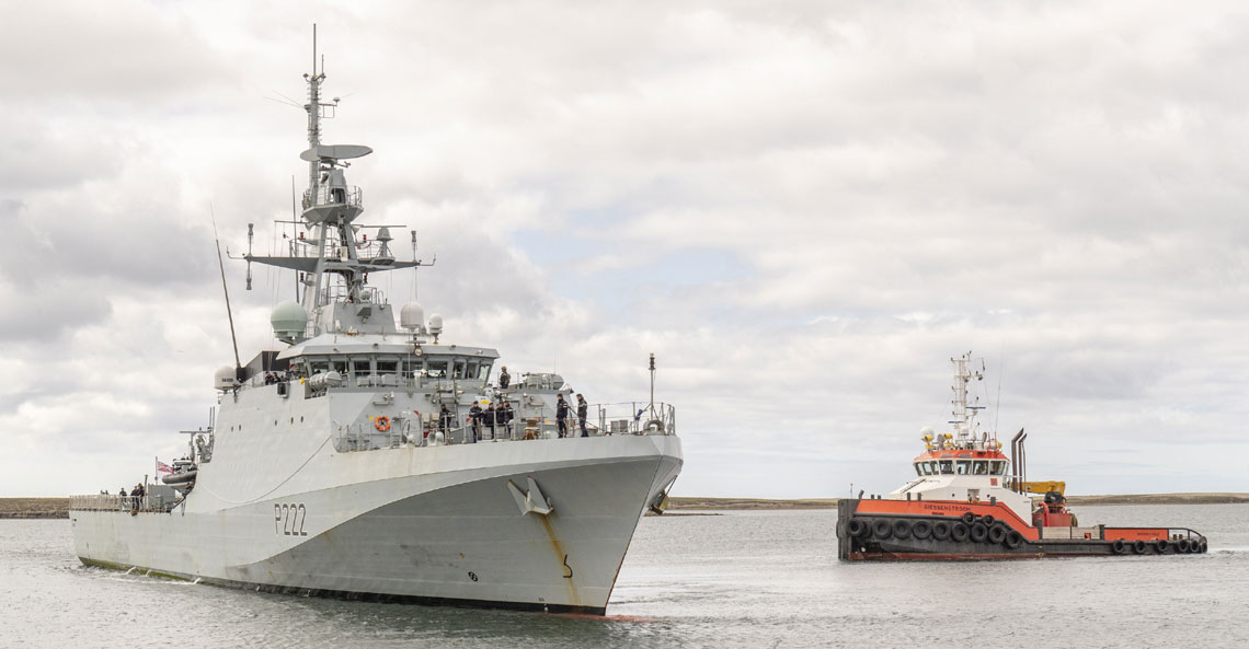 HMS Forth in the Falklands