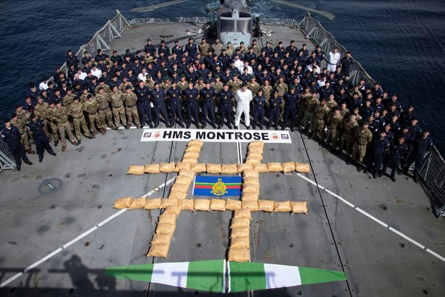 HMS Montrose Drugs Bust