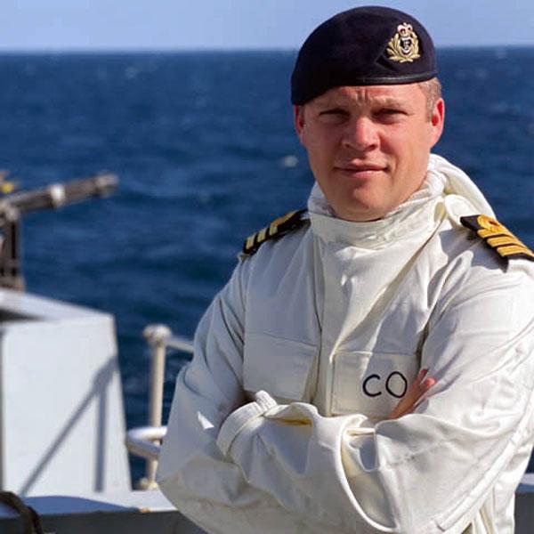 HMS Montrose Commander Charles Collins