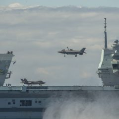 HMS Queen Elizabeth and HMS Kent