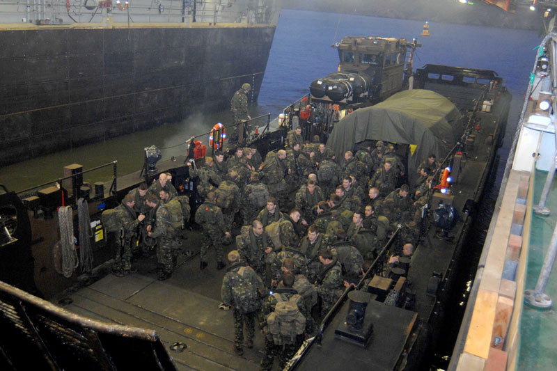 Royal Navy amphibious exercise in South West