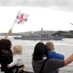 HMS Argyll arrives home to Plymouth