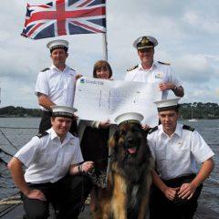 HMS Talent receives special guest Mr Fowley