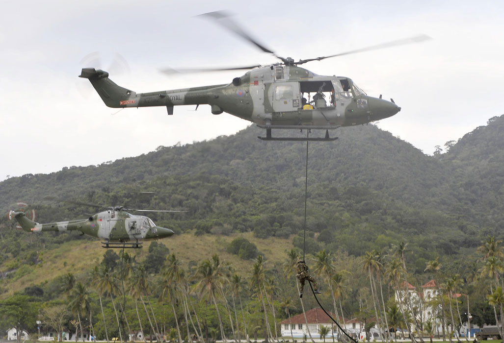 Royal Marine leads first landings with Brazilian Marines