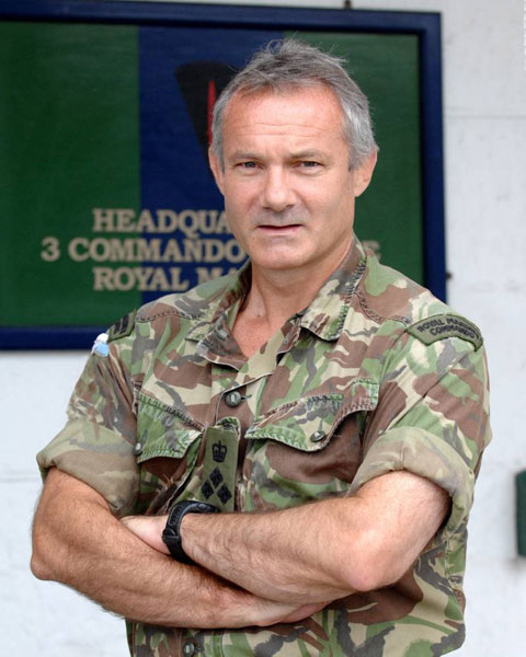 Lieutenant Colonel Martin Taylor OBE, Commanding Officer Royal Marines Stonehouse